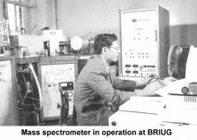 Mass spectrometer in operation at BRIUG