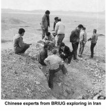 Chinese experts from BRIUG exploring in Iran