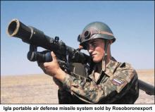Igla portable air defense missile system sold by Rosoboronexport