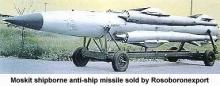 Moskit shipborne anti-ship missile sold by Rosoboronexport