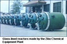 Glass-lined reactors made by the Zibo Chemical Equipment Plant