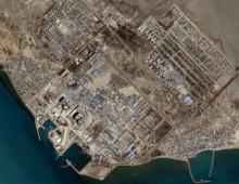 Bushehr Reactor, Iran. This one-meter resolution image was collected March 1, 2001. Credit: Space Imaging