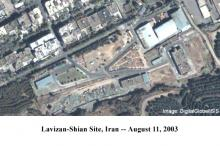 Lavizan Shian site on August 11, 2003 (Image courtesy of Digital Global/ISIS)