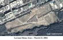 Lavizan Shian site on March 22, 2004 (Image courtesy of Digital Global/ISIS)